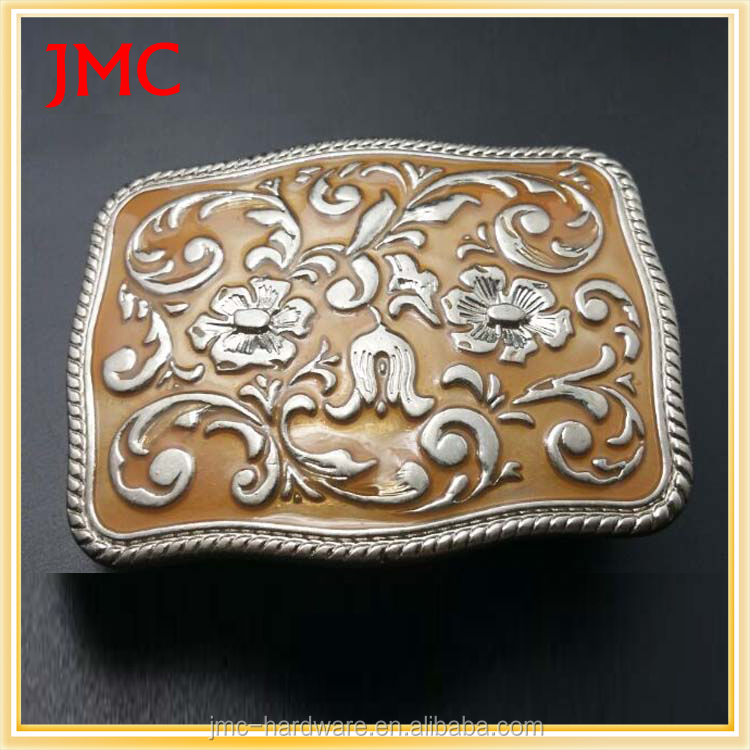 China western cheap engraved electroplated metal custom plate large big belt buckles