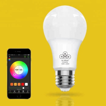 High Quality Timer+group+music Android Ios Rgbw Bluetooth Mesh lamp smart Led bulb Music speaker e27 led Bulb