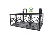 Outdoor decorative design metal hanging plant stand