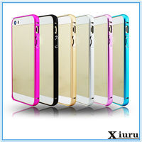 Colorful Fashion Metal Frame Case Cell Phone Cover For Iphone 5 5s SE