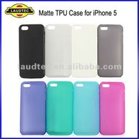 New Arrvial Soft Skin Matte TPU Gel Case for iPhone 5, Various Colors are Available, New Arrival, Laudtec