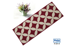 100% Polyester Material stipe silk carpets door mat