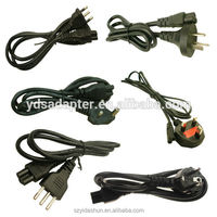 US type UL listed 110V us 2 pin power cord ul power cord american power cable for North American
