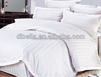 100% combed cotton 230T sateen stripe hotel bedding fabric