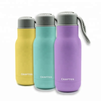 Vacuum Flask double wall  Stainless Steel Water Bottle with Rope