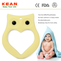 2015 BPA Free Food Grade Silicone Funny Christmas Teether Toys