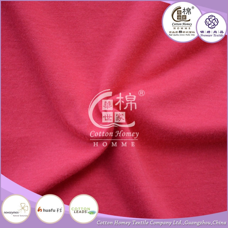 New style organic cotton fabric wholesale plain single jersey fabric wholesale jersey fabric for t shirt