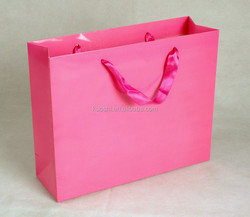 Large laminated storage shopping paper bag manufacture