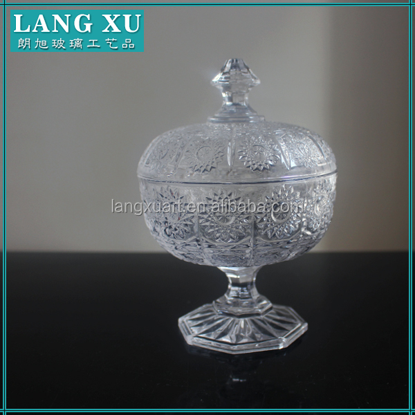 crystal container candy jar with lid small decorative glass jars and lids