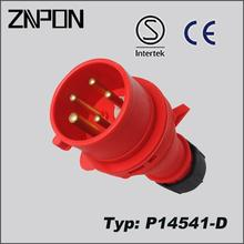 P14541-D 16A 400V male plug and female receptacle connector