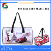 Europe Style Wholesale Fashion Lady Travel Bag Custom Print Souvenir Paris Eiffel Tower Red Car Pu Girl Duffle Bag Waterproof