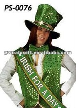 glitter Irish party sash