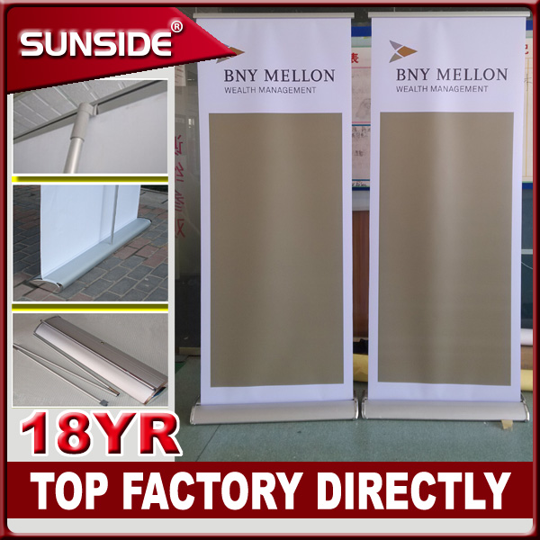 good price fashionable aluminium Roll up banner/exhibition banner/Hanging Scrolling Aluminum roll up banner