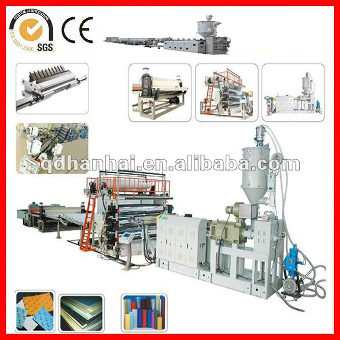PP/PE three roller calendering sheet machine