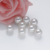 12-13mm AA+ grade white color no hole half drilled freshwater cultured edison round pearls