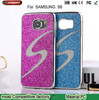 S-type Double Color Glitter Metal Plating Skinning Hard case for samsung galaxy s6