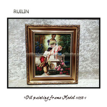 European style painting frame with canvas made in China