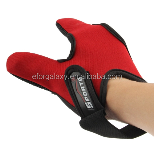 Fishing Special Two Fingers Gloves (Red)