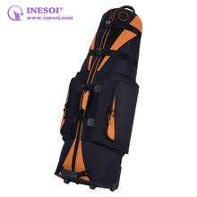 Folding Travel Golf Bag 600 Denier Polyester Golf Bag Custom Wheeled Golf Bag