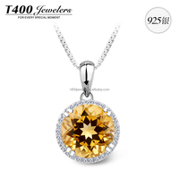 T400 hot sell joyas de 925 sterling plata con AAA Zirconia necklace set 2016 10599