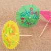 Hot sale Summer Umbrella Wood Disposable Cocktail Picks