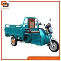 open electric tricycle cargo with 3 wheels