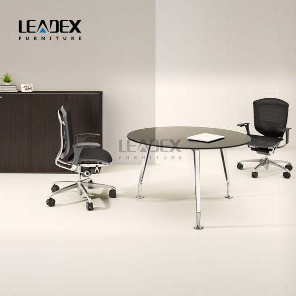 2017 OEM Design Style Glass Round Office Meeting Table