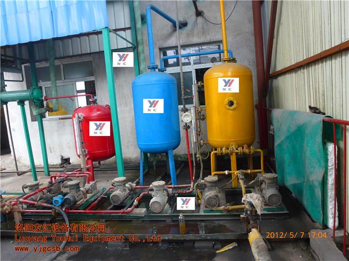 Continuously into the waste oil refined oil products waste oil regeneration Heating cycle in vitro