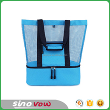 2-in-1 Mesh Beach Bag with Cooler,Beach Tote Bag