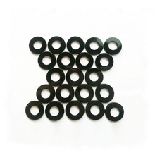 M2-M48 Black round flat nylon rubber washer
