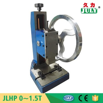 low cost JULY brand durable hand operated punch press