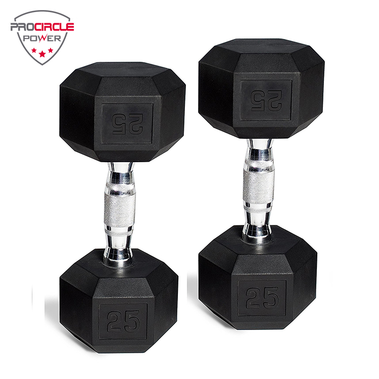 Fitness Gym Apparatuur Rubber Hex Halter Set