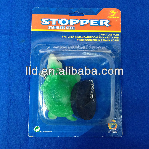 250054 LOVELY TORTOISE DESIGN KITCHEN SINK DRAIN PVC STOPPER/WATER LINE PLUG/CORE PLUG