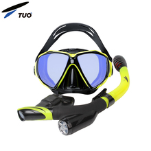 TUO China New Snorkeling Swimming Diving Set Snorkel Mask With Go Pro Mount