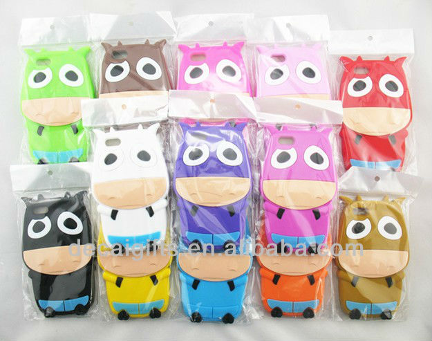 13 styles animal silicone phone case for iphone 5