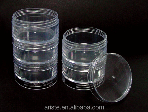 21833 Clear Plastic Stackable Bead Boxes 5 Pieces