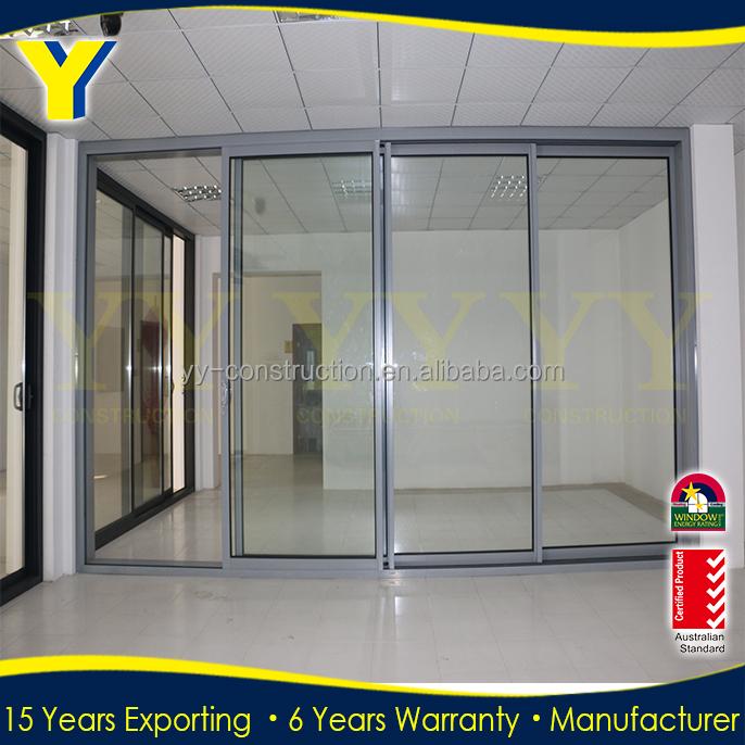 Aluminium commercial automatic lowes sliding glass patio