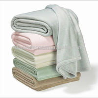 polyester machine washable solid color TV fleece blanket