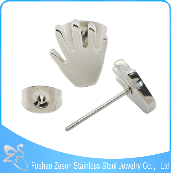 ZS20023 medical steel hands shaped earrings wholesale fashion jewelry