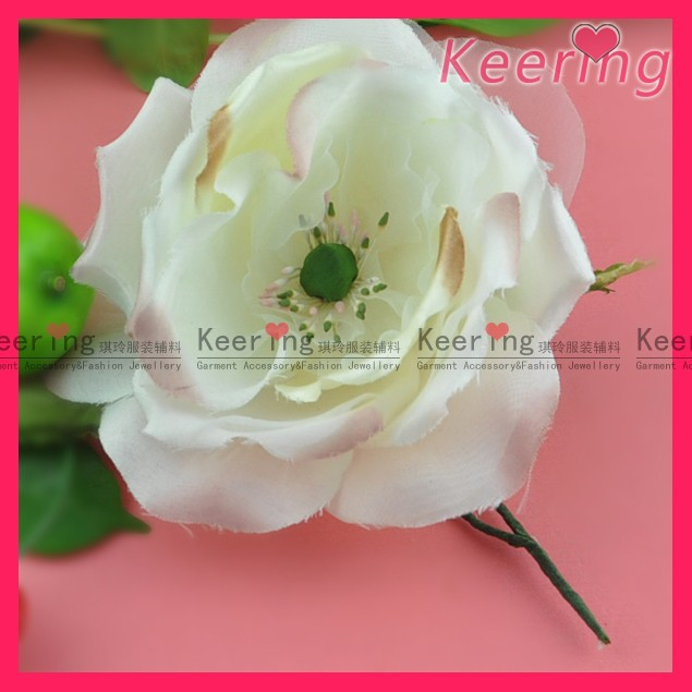 Petal fabric rose flowers for wedding decoration wph-1690