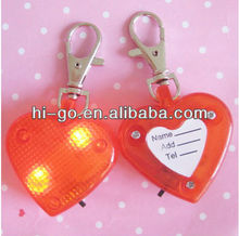 LED heart shape dog bells/tag/ID tag/blinker