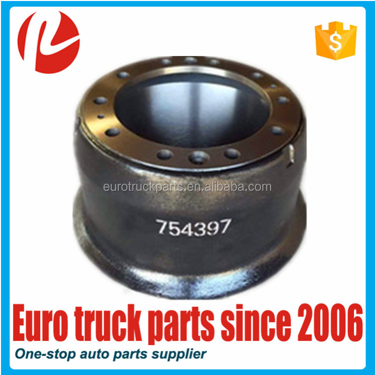 High quality brake drum oem 0754397 for Daf eurocargo truck spare parts