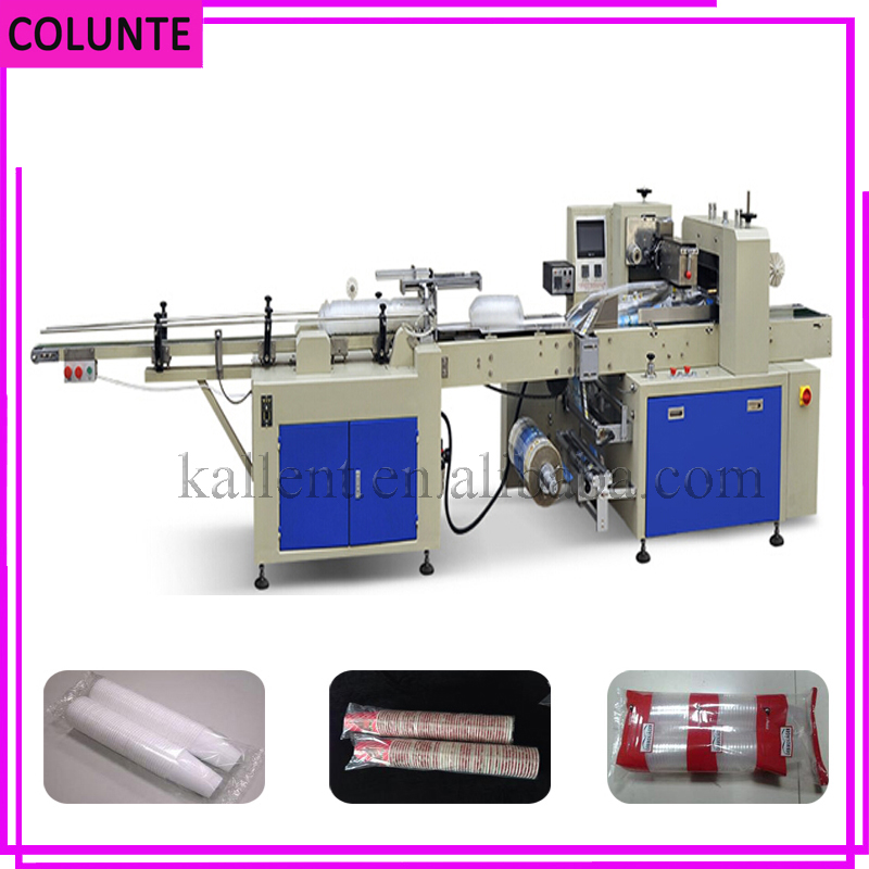 high quality disposable ice cream cups packing machine counting machine