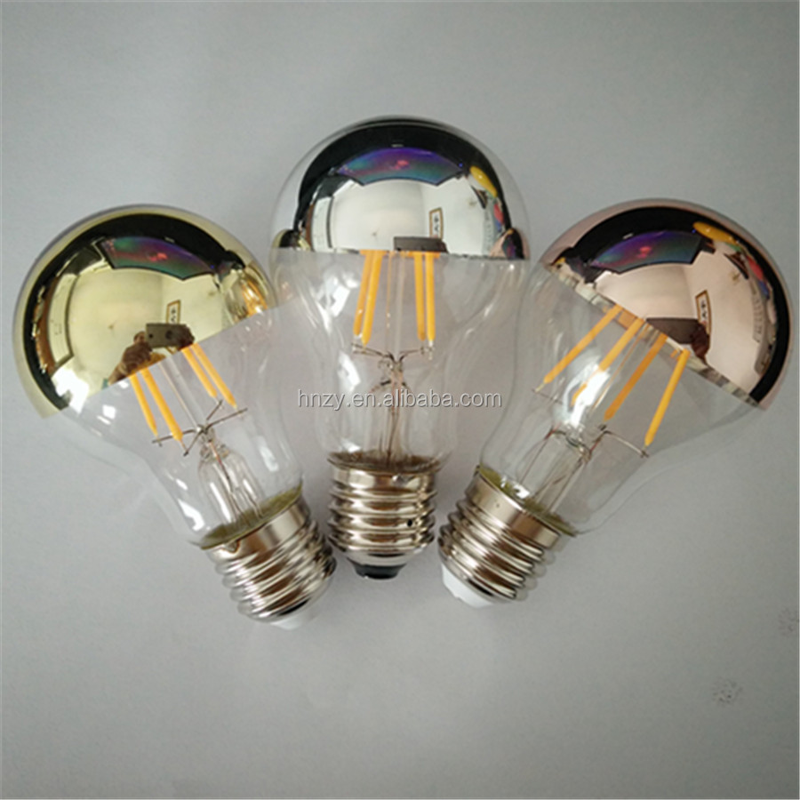 OEM factory price half mirror led shadowless light led filament bulb A60 A19 customized