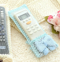 3 Colors Fashion Cute Bowknot Cloth Remote Control Dustproof Case Cover Protector For TV Air Condition