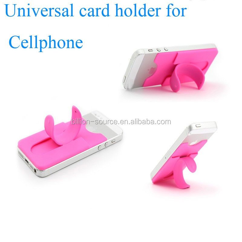 2017 silicone material univeral card holder for cellphone