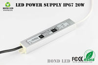 BOND factory offer constant current led driver 1.67A DC12/24V 20w led power supply, 20w-25w supply