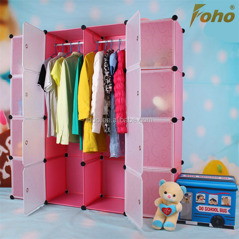 Hottest diy assembled plastic clothing cabinet for family use FH-AL0050-16