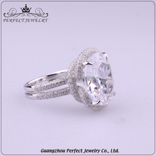 China Supplier Custom Best Price Popular Newly Style Zircon Stone Charming Women Fashion 925 Silver Ring