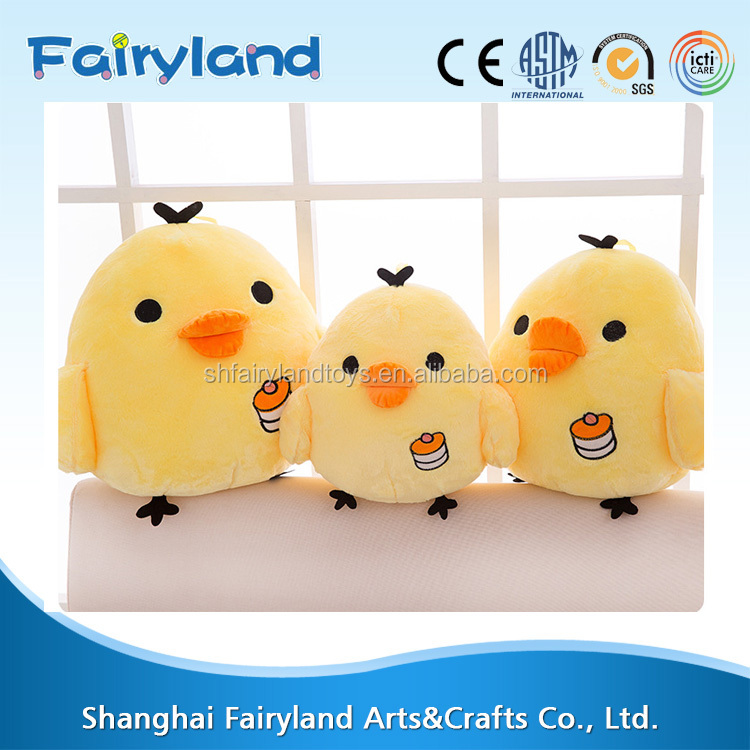 Very beautiful small yellow chicken stuffed plush toy for new year